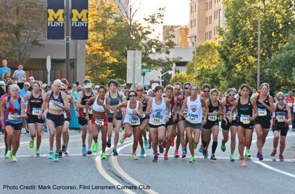 Crim symbolizes community's race to finish line