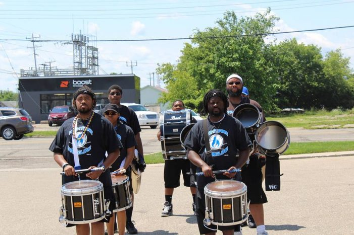 Drumline beats with city spirit