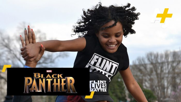 Little Flint hero helps raise $15,000 for youth to see Black Panther movie