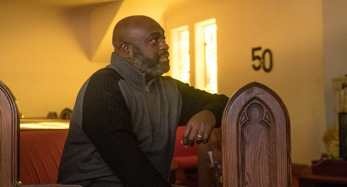 Rodney Ellison preaches grace, hope and forgiveness, with a little fire and brimstone
