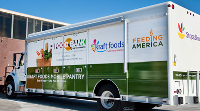 Mobile food pantry rides into neighborhoods again in August